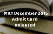 MAT December 2015: Admit card released at aima.in
