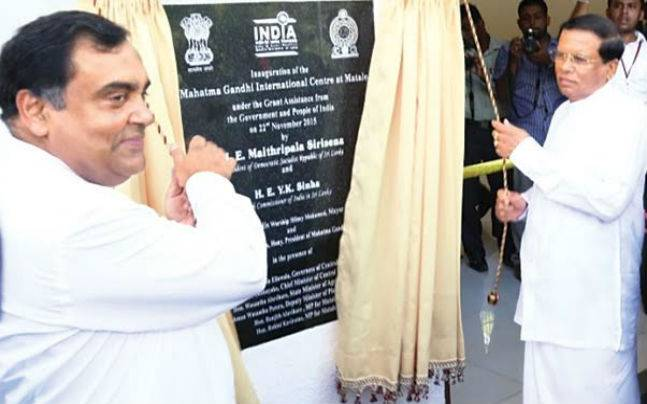 Sri Lanka dedicates culture centre to Mahatma Gandhi