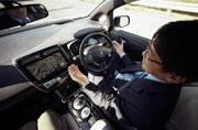 Nissan test car drives itself safely, recognizes pedestrians