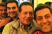 Photo of the day: Salman, Arbaaz and Sohail with dad Salim on Khan Sr's birthday