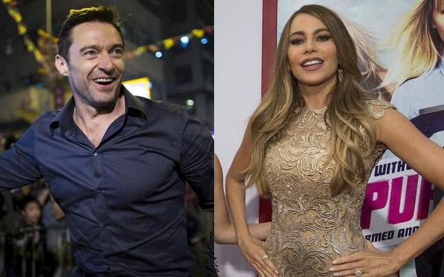 Hugh Jackman and Sofia Vergara. Photo: Reuters