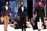 Dapper dudes: Saif Ali Khan, Randeep Hooda and Kunal Kapoor walk the runway