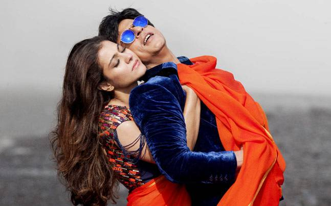 Kajol and Shah Rukh Khan in a still from Dilwale