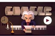 Google doodles a musical ode to Beethoven