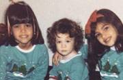 Can you spot Kim Kardashian in this adorable Christmas photo?