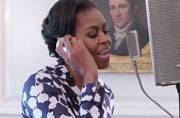 Watch Michelle Obama rap for college campaign