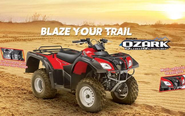 Suzuki Launch Ozark 250 Quadsport Z400 Atvs In India Auto News
