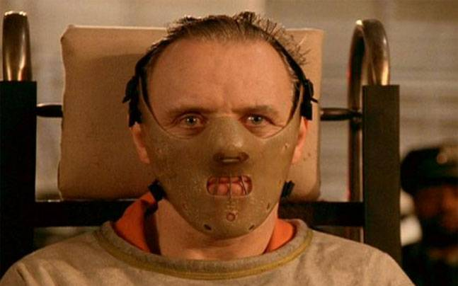 Anthony Hopkins in a still from The Silence Of The Lambs