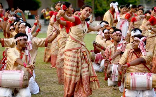 Bihu celebrations in Assam. Picture courtesy: Pinterest