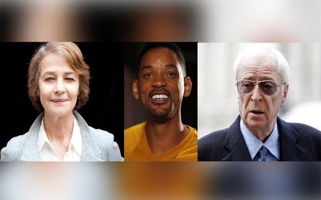 Charlotte Rampling, Will Smith and Michael Cain. Photos: Reuters