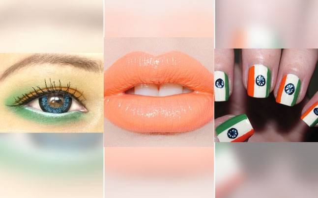 Try these cool and funky Republic Day make up. Picture courtesy: Pinterest/crazy-nailzz.blogspot