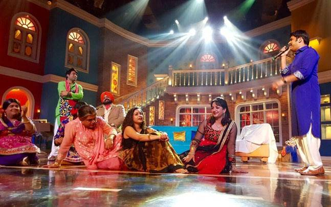 Bye-bye, Comedy Nights: Still from the last episode of Kapil Sharma's show on Colors Picture courtesy: Twitter/Sumona Chakravarty
