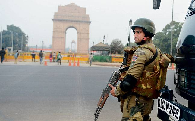 Security in front of India Gate