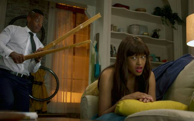 A still from Fifty Shades Of Black