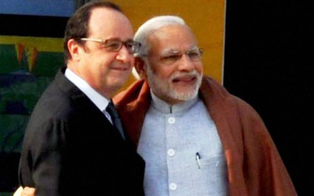 French President Francois Hollande and PM Narendra Modi