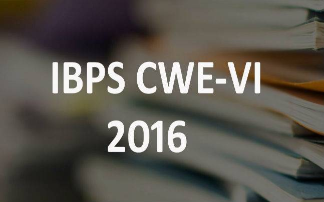 IBPS CWE-VI 2016: Exam dates out