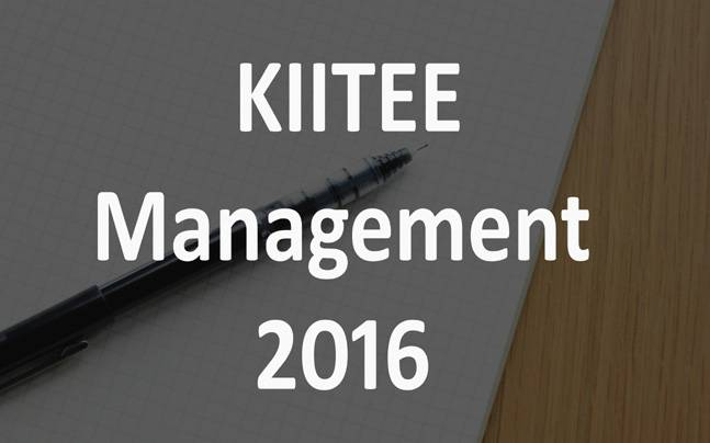 KIITEE Management 2016