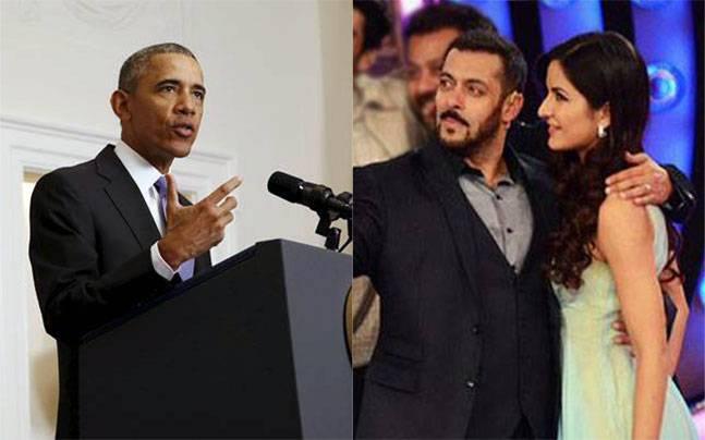 Barack Obama and Salman Khan with Katrina Kaif