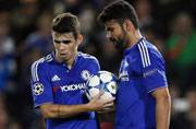 Chelsea's Oscar denies training ground bust-up with Diego Costa
