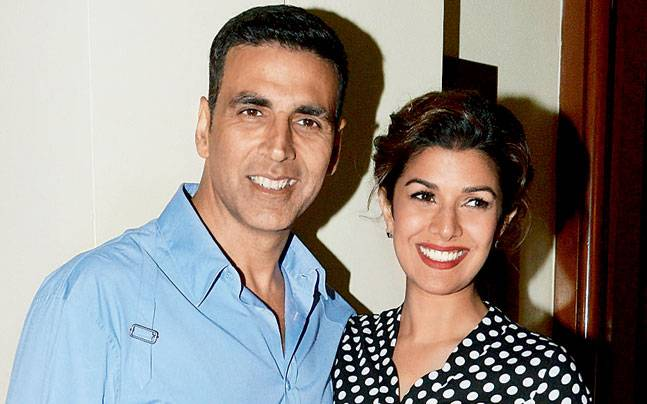 Airlift stars Akshay Kumar and Nimrat Kaur in Mumbai