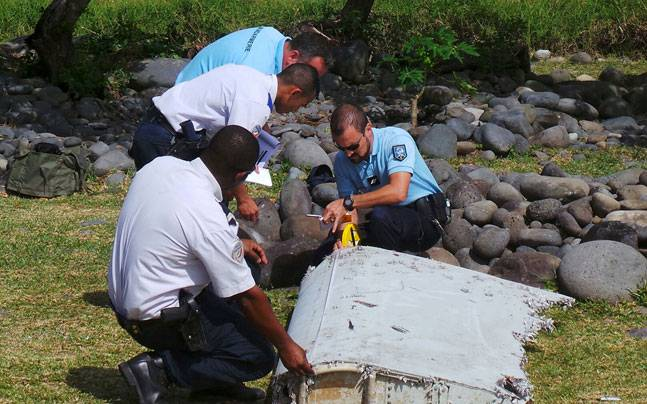 File picture of the wreckage of the missing Malaysia Airlines Flight MH370.
