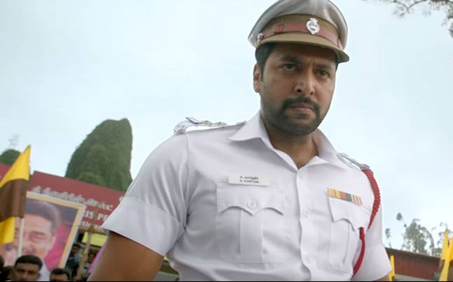Jayam Ravi plays a traffic inspector in Miruthan