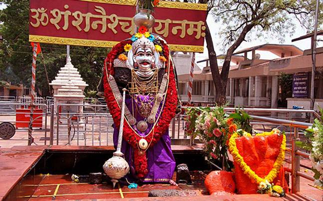 Shani Shingnapur temple in Ahmednagar district in Maharashtra