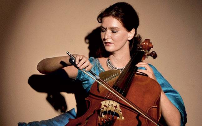 Saskia Rao-de Haas, a music student from Holland created the Indian cello. Picture courtesy: Mail Today