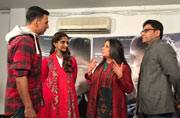 Photo of the day: Akshay Kumar's surprise visit to Sonam Kapoor and the Neerja team