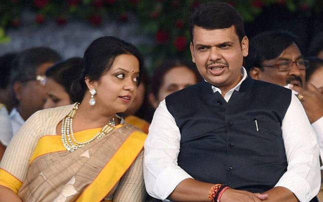Amruta and Devendra Fadnavis