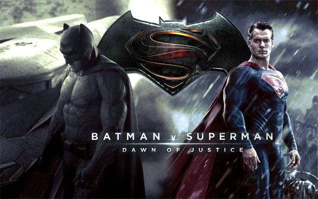 Ben Affleck And Henry Cavill In A Poster Of Batman V Superman Dawn Justice
