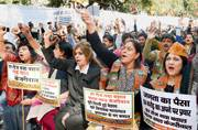 AAP government completes one year, BJP observes 'Black Day'