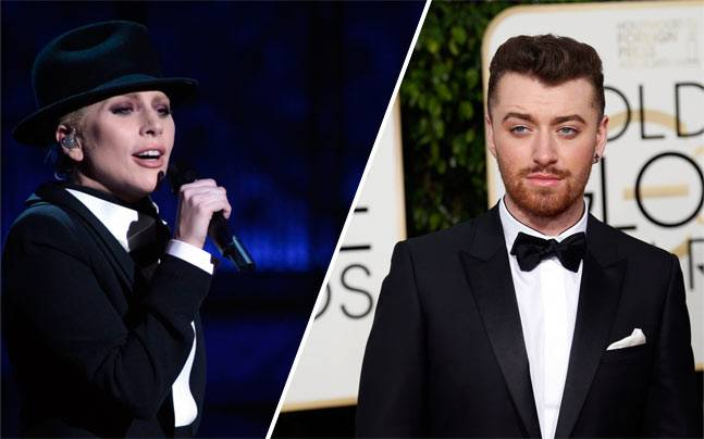 Lady Gaga and Sam Smith. Picture courtesy: Reuters