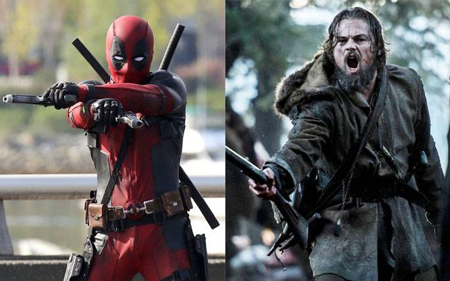 Stills from Deadpool (L) and The Revenant
