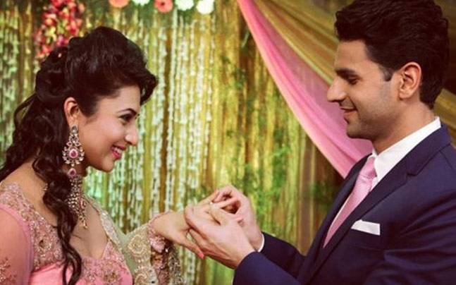 Divyanka Tripathi and Vivek Dahiya got engaged last month. Picture courtesy: Vivek Dahiya/Instagram