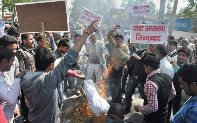 Jats protest for reservation