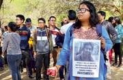 JNU students carry out protest march for Rohith Vemula at Jantar Mantar