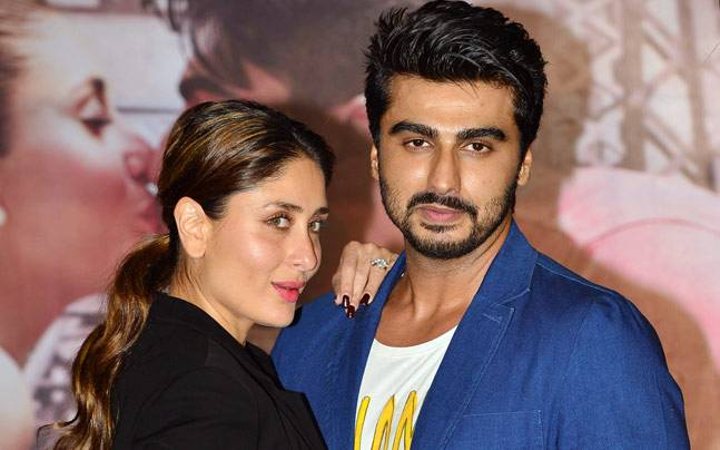 Kareena Kapoor Khan and Arjun Kapoor at the trailer launch of Ki and Ka. Photo: Milind Shelte, India Today