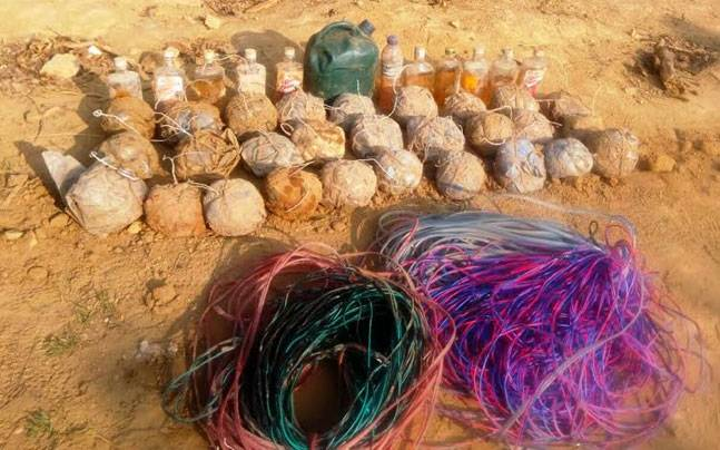 IED cache recovered from GNLA stronghold in Garo Hills