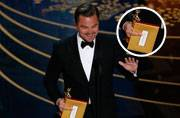 Leonardo DiCaprio just won his first Oscar. Did you notice his middle finger though?