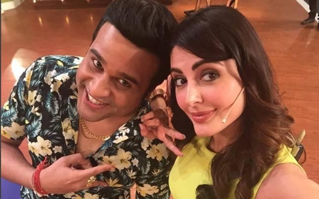 Mandana Karimi and Krushna Abhishek on the sets of Comedy Nights Live Picture courtesy: Instagram/Mandana Karimi