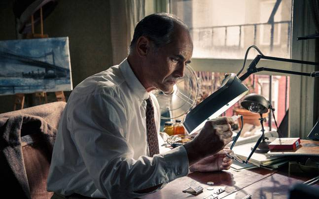 Mark Rylance in a still from Bridge of Spies