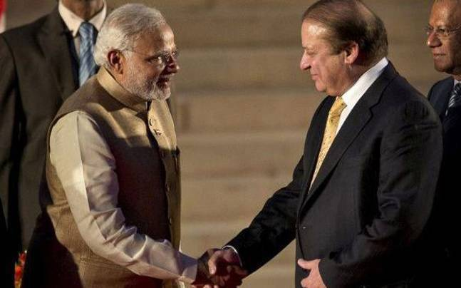 File picture of PM Modi and Nawaz Sharif