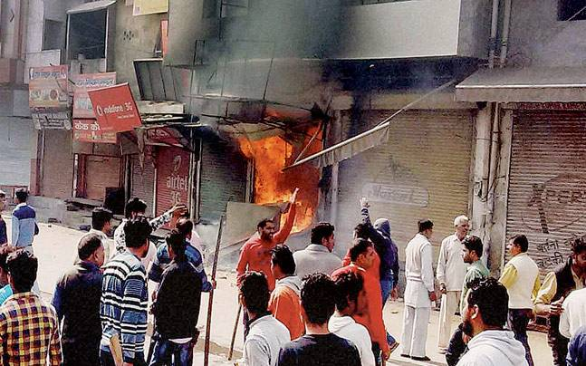 Protesters had set shops on fire as the Jat agitation demanding reservation intensified in Sonipat.