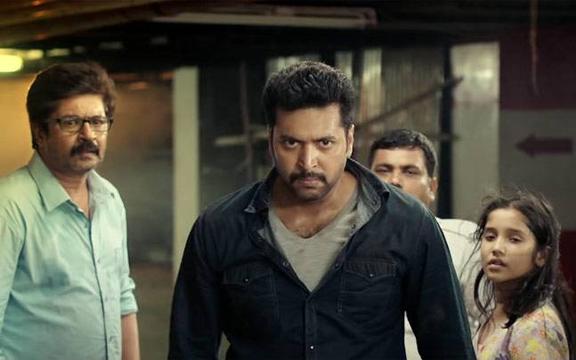 Jayam Ravi in a still from Miruthan