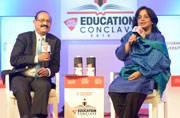 Reena Ray, Additional Secretary, HRD ministry, during a discussion.