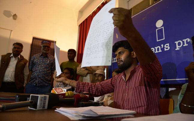 Rohith's friend has accused Irani of spreading lies. (Photo by M Zhazo)