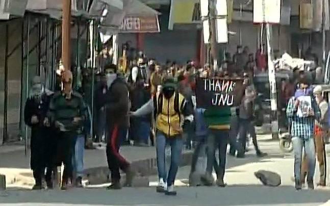 Protests in Srinagar