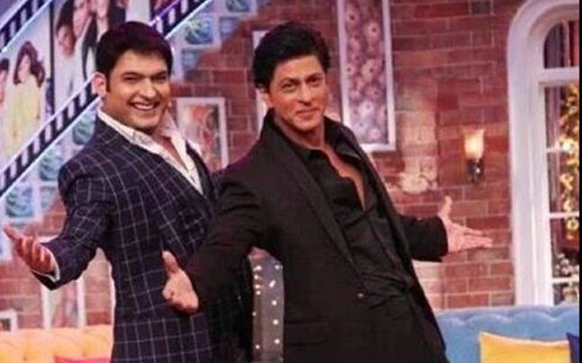 Kapil Sharma tries SRK's signature step on CNWK Picture courtesy: Twitter/Kapil Sharma