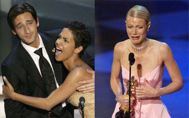 Adrien Brody, Halle Berry and Gwyneth Paltrow. Photos: Reuters